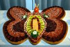 Rohfleischplatte Schmetterling